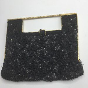 Vintage Delill Beaded Sequin Frame Clutch